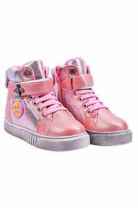 Ботинки детские девочка на меху пудра YTOP 127491P