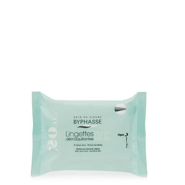 Byphasse Make-up Remover Wipes Aloe Vera Sensitive Skin Салфетки очищающие салфетки 20 шт