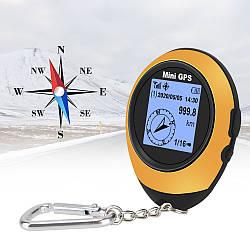 Мини GPS возвращатель логгер Leepee PG-05Sв виде брелка память на 16 путевых точек компас оранжевый