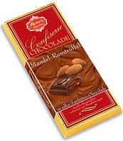 Плитки черного шоколада REBER с начинкой ром, миндаль, трюфель100г.