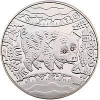 Рік Свині (Кабана) монета 5 гривень срібло 15,55 грам