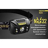 Налобный фонарь NITECORE NU32 (550LM, CRI LED, RED LED и CREE XP-G3 S3 / 9 режимов / 1800 mAh / USB), фото 2