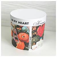 "Шляпная коробка ""Autumn"" d16 h15"