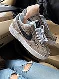 Стильные кроссовки Nike Air Force 1 Low Snakeskin, фото 4