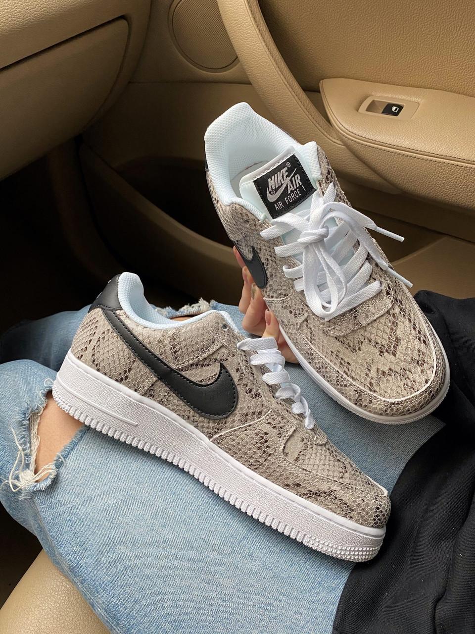 Стильные кроссовки Nike Air Force 1 Low Snakeskin