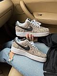 Стильные кроссовки Nike Air Force 1 Low Snakeskin, фото 8