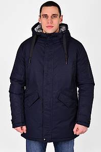 Куртка мужская полубатал зима темно-синяя C&R 126625P