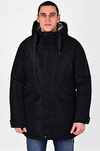 Куртка мужская полубатал зима черная C&R 126628P