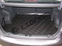 Коврик в багажник для Kia Rio IV 2017-2022 (росс. сборка), седан, резино-пластиковый (Lada Locker)