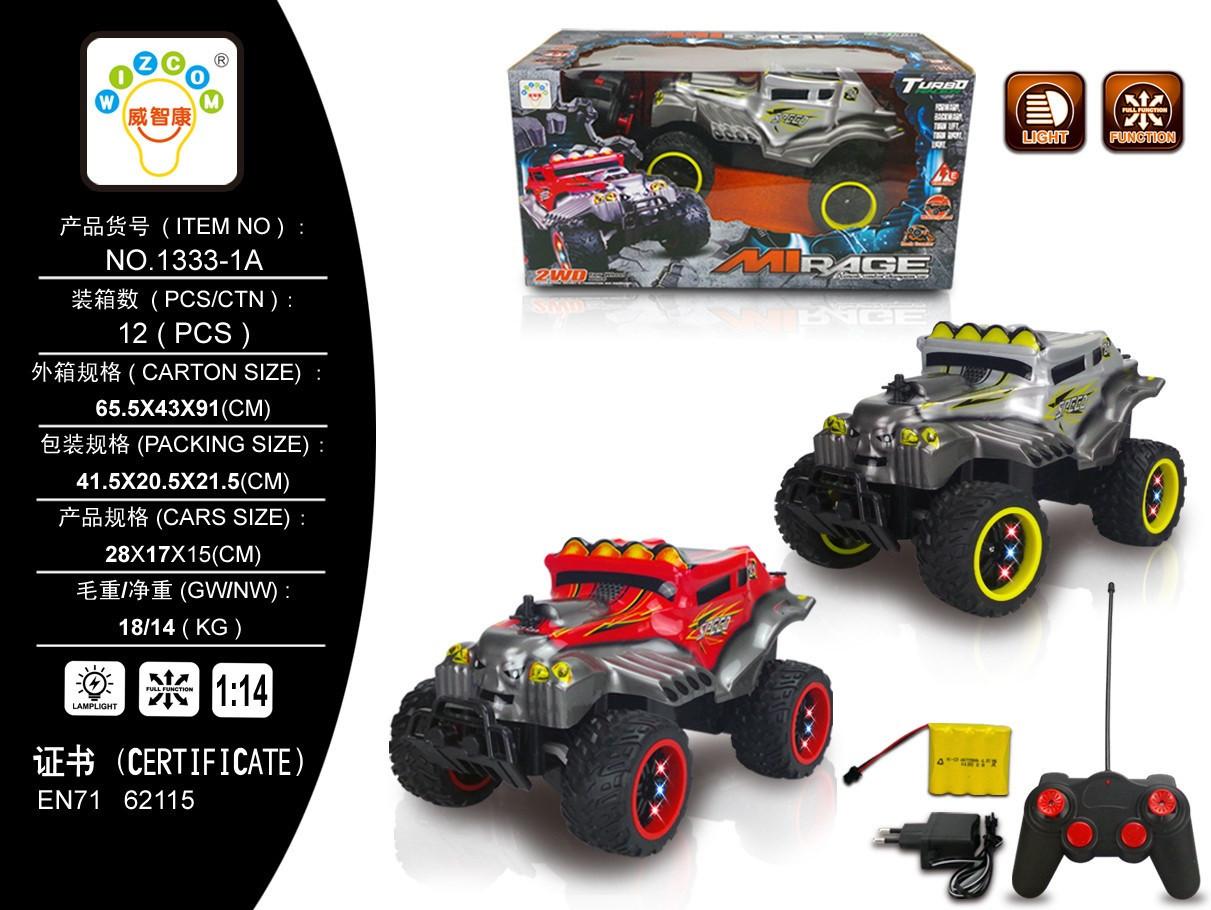 Машина джип на радіо керуванні світло 2 кольори в коробці 1333-1A