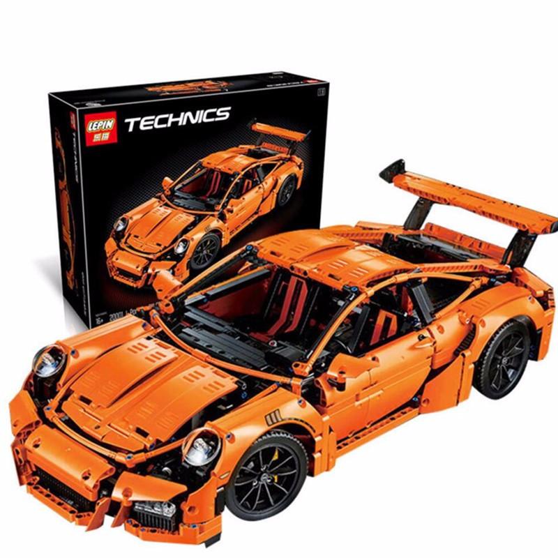 Конструктор Technics Porsche 911 GT3 RS, LEPIN 3368 техник спортивная машина Порше 2728 деталей
