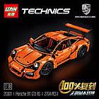 Конструктор Technics Porsche 911 GT3 RS, LEPIN 3368 техник спортивная машина Порше 2728 деталей, фото 3
