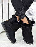 Угги женские натуральная замша черные 7228-28, фото 5