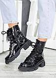 Ботинки берцы зимние женские лак-кожа 7458-28, фото 2