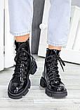 Ботинки берцы зимние женские лак-кожа 7458-28, фото 3