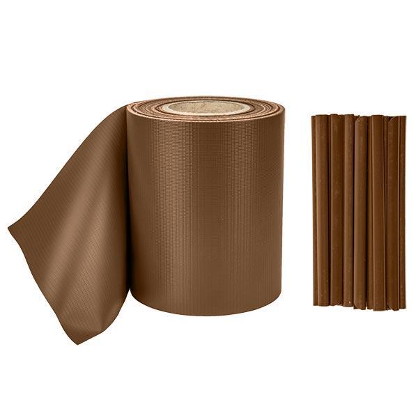 Лента для забора 19см x 35м, 450г/м2, TOB4501935GRL, коричневая