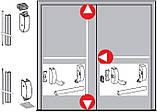 Антипаника Dorma PHA 2000 для 2-створчатой штульповой двери с 3-точечным запиранием с внешней ручкой, фото 2
