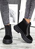 Ботинки черная замша зимние, фото 2