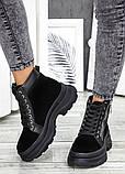 Ботинки черная замша зимние, фото 3