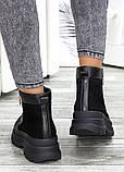 Ботинки черная замша зимние, фото 5