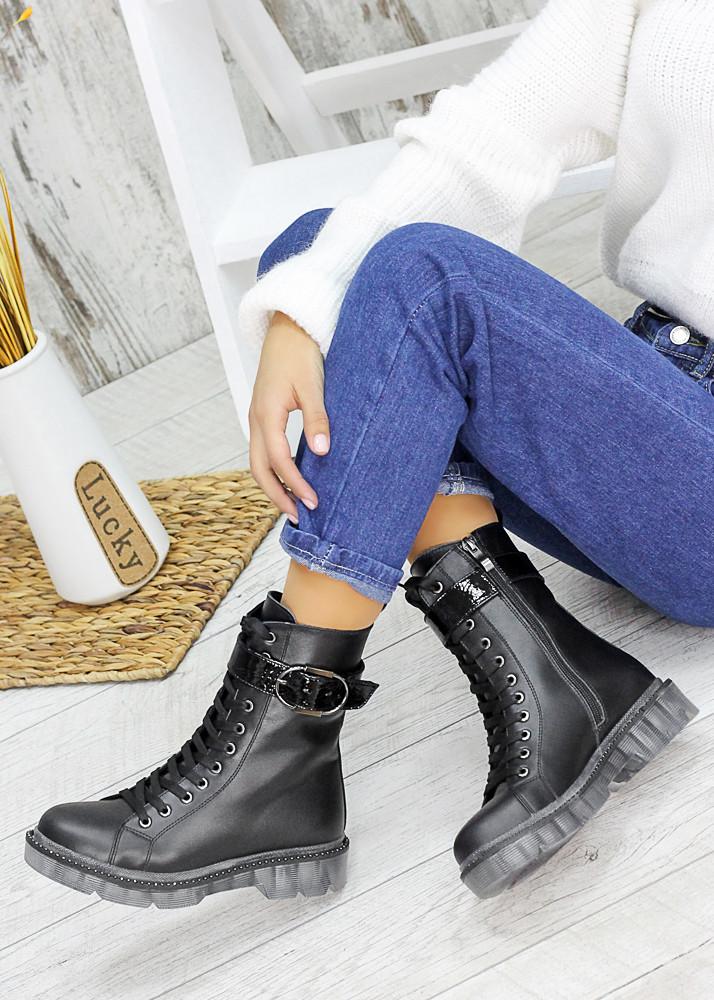 Ботинки берцы женские кожаные зимние 7539-28