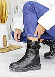 Ботинки берцы женские кожаные зимние 7539-28, фото 3