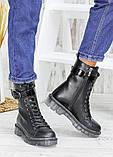 Ботинки берцы женские кожаные зимние 7539-28, фото 4