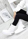 Зимові білі жіночі черевики дутики шкіра 7583-28, фото 2