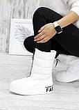 Зимові білі жіночі черевики дутики шкіра 7583-28, фото 5
