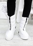 Зимові білі жіночі черевики дутики шкіра 7583-28, фото 6