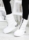 Зимові білі жіночі черевики дутики шкіра 7583-28, фото 7