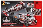 Конструктор JiSi bricks Technic 3366 2 в 1 Гоночный автомобиль Formula-1 и грузовик 1141 деталь, фото 3