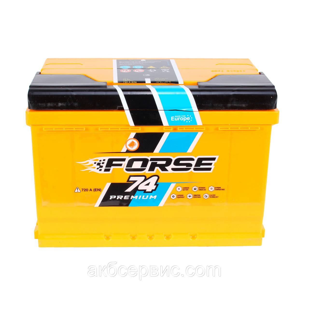 Аккумулятор автомобильный Forse 6СТ-74 Аз Premium