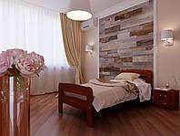 Кровать из натурального дерева односпальная Октавия С2, 80х190, бук натуральный