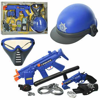 Игровой набор полицейского для мальчика 33710-33730 с каской, автоматом и другими аксессуарами (2 вида)