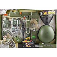 Детский игровой набор военного 33570 с автоматом, каской, гранатой, рацией, маской, биноклем, фото 2