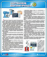 Стенд. Електробезпека побутових приладів. 0,5х0,6. Пластик