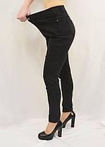 Джинсы женские хороших размерах 3XL - 5XL Джеггинсы Ласточка - полубатал (Синий джинс), фото 3