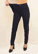 Джинсы женские хороших размерах 3XL - 5XL Джеггинсы Ласточка - полубатал (Синий джинс), фото 2