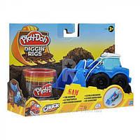 Пластилин Play-Doh (Плей до) Игровой набор с массой для лепки Машинки для строительства дорог Синяя