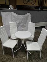 Стол со стульями обеденный Белый Набор Новый