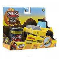 Пластилин Play-Doh (Плей до) Игровой набор с массой для лепки Машинки для строительства дорог Желтая Хасбро