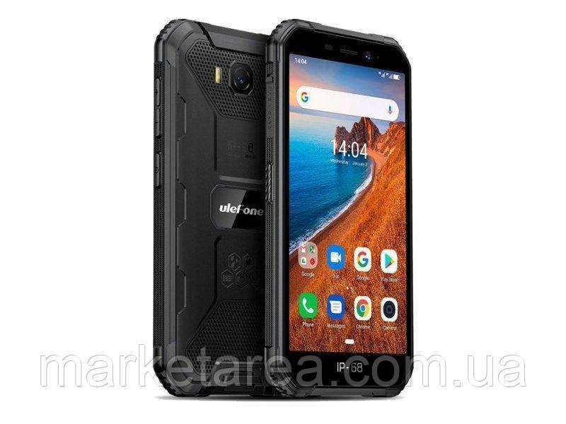 Смартфон ударопрочный со сканером лица на 2 сим карты Ulefone Armor X6 2\16GB black (Global) Гарантия 12 мес