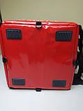Терморюкзак для доставки еды и пиццы на молнии из ПВХ. Термосумка для доставки суши, пиццы, Молния. На каркасе, фото 3