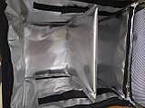 Терморюкзак для доставки еды и пиццы на молнии из ПВХ. Термосумка для доставки суши, пиццы, Молния. На каркасе, фото 4