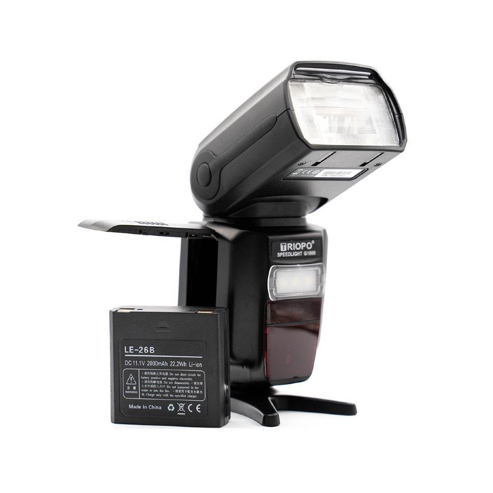Вспышка для фотоаппаратов Nikon и Canon - TRIOPO G1800 с TTL и встроенным синхронизатором и аккумулятором