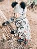 Комбинезон детский демисезонный ЛЕСНЫЕ МОРДОЧКИ, фото 4