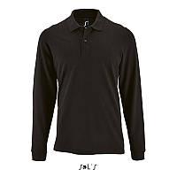 Чоловіча сорочка поло з довгим рукавом PERFECT LSL MEN (чорний, M)