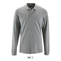 Чоловіча сорочка поло з довгим рукавом PERFECT LSL MEN (сірий меланж 2, XXL)