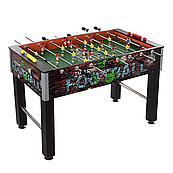 Большой настольный футбол, игровой стол деревянный на штангах (121х61х80 см)